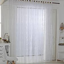 White Sheer Voile Curtains by Five Leaves Flowers Sheer Voile Door Window Curtains White Intl