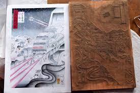 Star Wars Japanese Woodblock Print Ukiyo E Designboom