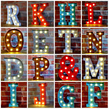 industrial style light up letters use individual letters or make