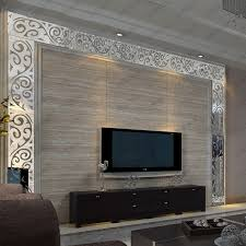 3d acrylic mirror wall stickers tv background wall waistline