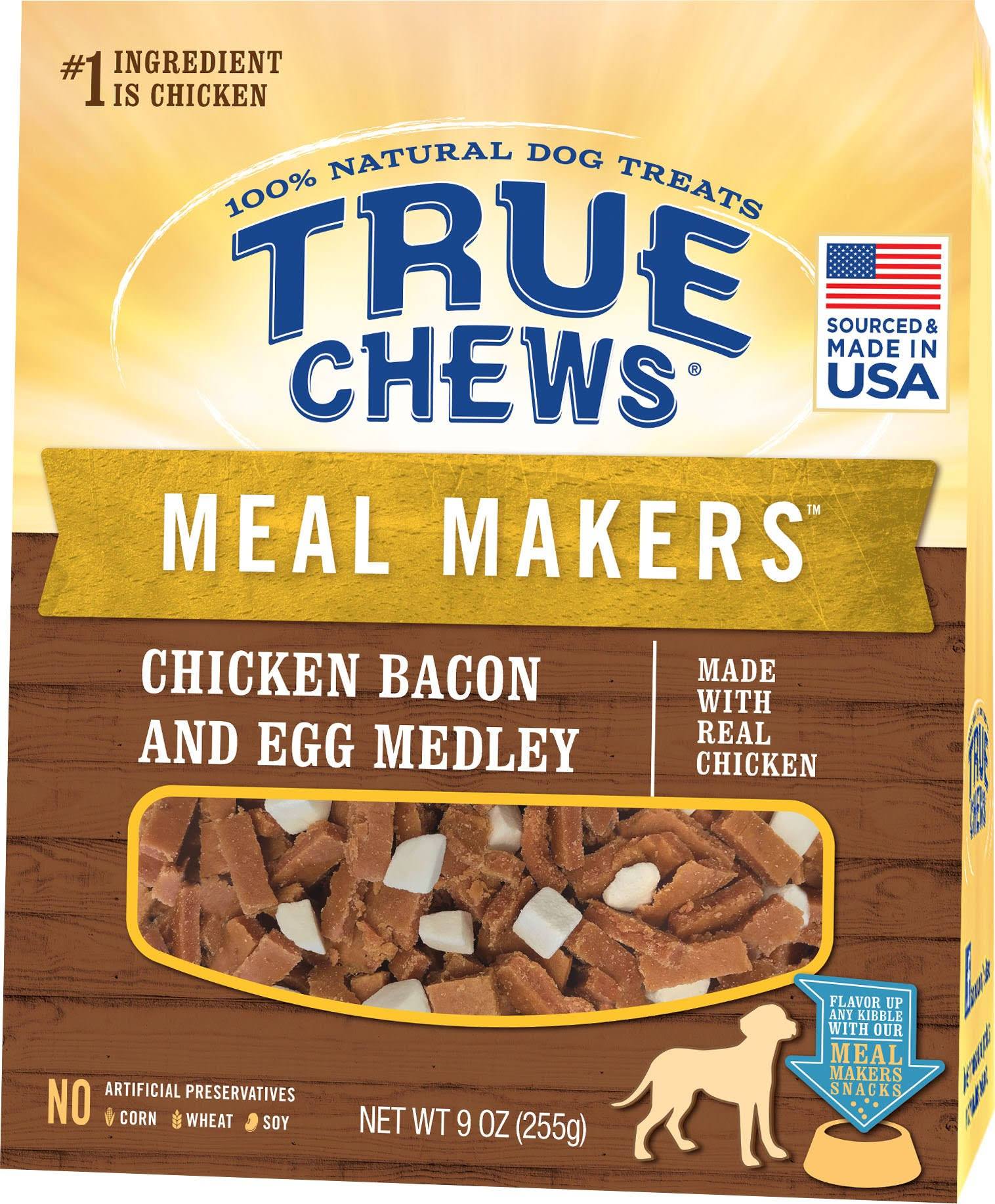 True Chews Meal Makers Dog Treat - Chicken, Bacon and Egg Medley, 9oz