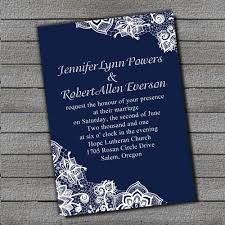Royal Blue Invitation Paper Exquisite Navy Lace Wedding Ewi264 As Low 094