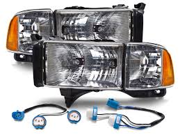 1994 2002 dodge ram truck sport style conversion headlights kit