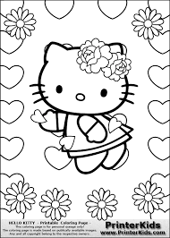 View Larger Hello Kitty Heart Colouring Pages