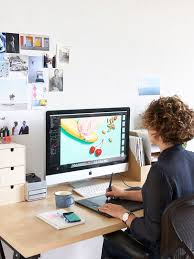 Graphic Designer At Work Office Incredible Design Furniture Interesting Home Ideas 1