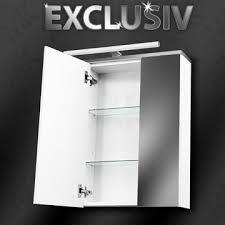 details zu spiegelschrank exclusiv mit led weiß hochglanz badezimmer bad spiegel schrank