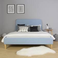 polsterbett doppelbett stoffbett bettgestell 140 x 200 bett blau