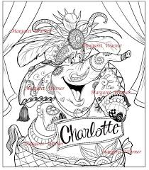 Elephant Coloring Page Intricate Ink Illustration You Can Add A Name Too