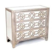 Hayworth Mirrored 3 Drawer Dresser by 3 Drawer Mirrored Nightstand Foter