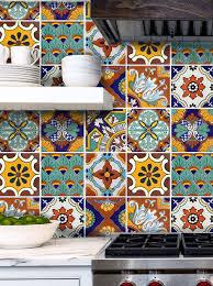 kitchen backsplash mexican terracotta tile blue mexican tile