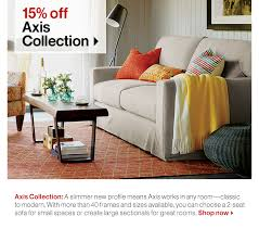 Crate And Barrel Axis Sofa by Crate And Barrel Save 15 On Our Best Selling Sofa Sectionals