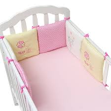 6Pcs Pack Baby Bed Bumper Infant Bed Cot Bumper Bed Protector