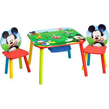 Mickey Mouse Bathroom Decor Walmart by Disney Mickey Mouse Storage Table And Chairs Set Walmart Com