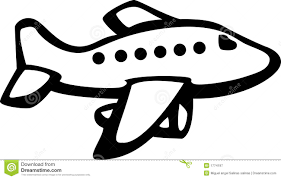 Download · Black And White Airplane With Banner Clipart