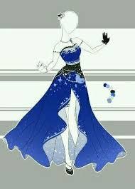Royal Dress Water Tribe Yue Design DrawingDress
