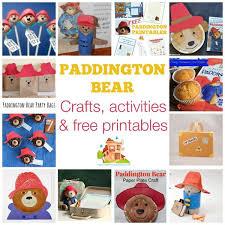 Paddington Bear crafts activities & free printables