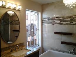 Chandelier Over Bathroom Sink by Retro Bathroom Vanity Design With Cabinet And Sink As Well As