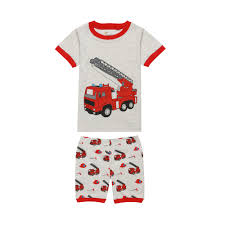Summer Boys Short Sleeve Pajamas Kids Cotton Fire Truck Printing ... Long Sleeve Fire Truck Sleepwear Honey Bee Tees Striped Girls Boys Pajamas 2 Piece 100 Cotton Kids Jumper Russell Sprouts Carters Little 4piece Products Cute Couture Boutique Sale Hatley Fire Truck Zip Babygrow Fireman Sam Pyjamas Elvis Charactercom Official Merch 2piece Chief Fleece Pjs Carterscom Leveret Pajama Set Best Rated In Baby Sets Helpful Customer Reviews 84544 New Pottery Barn Size 3t Pants Men