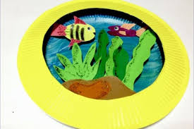 Easy And Exciting Plate Craft Ideas For Kids Simple Paper Painting Fish Inspired By The Rainbow Art These Adorable