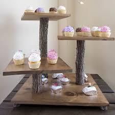 Farm Rustic Cupcake Stand