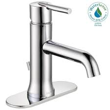 Delta Cassidy Bathroom Faucet Home Depot by Delta Trinsic Single Hole Single Handle Bathroom Faucet With Metal