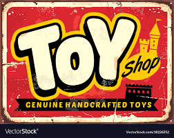 Toy Shop Or Store Vintage Sign Vector Image