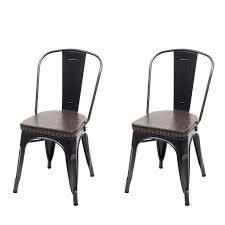 2x esszimmerstuhl hwc h10e küchenstuhl stuhl chesterfield metall kunstleder industrial gastronomie schwarz braun