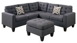 Poundex 3pc Sectional Sofa Set by Amazing Modular Sectional Sofa With Ottoman Gray Contemporary