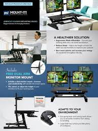 Dual Monitor Stand Up Desk by Amazon Com Mount It Sit Stand Workstation Standing Desk