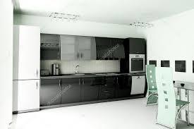 Modern White Kitchen Interior 3d Rendering Stockfoto Und Kitchen 3d Render Stock Photo Affiliate Render