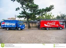100 Coke Truck Kyoto Japan November 15 2017 And Pepsi Del