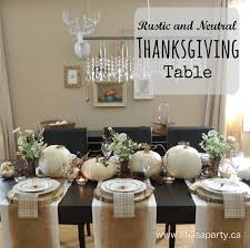 Rustic And Neutral Thanksgiving Table Beautiful Inexpensive Decorated With Wildflowers Little Mini