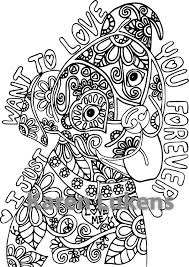 Coloring Book For Me Download Love Adorable Happy Pup Adult Page