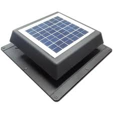 acol 200mm black ezylite solar roof vent fan bunnings warehouse