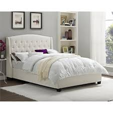 Skyline Tufted Wingback Headboard King by Dorel Living Tufted Wingback Upholstered Bed Cream Skyline Full