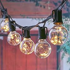 String Lights For Patio by Amazon Com Outdoor String Lights 25 Feet Indoor Globe String
