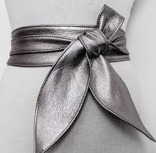gunmetal obi belt leather obi belt silver sash belt corset