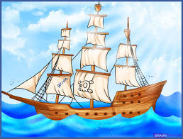100 Design A Pirate Ship Cartoon Boats And S Kaitlin SweitzerGraphic Stained