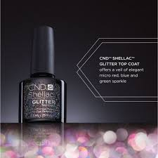 Cnd Shellac Led Lamp by Shellac Special Effect Top Coat Glitter Top Coat 0 25 Oz 768778