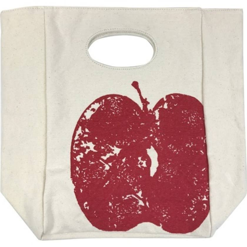 Fluf Organic Cotton Lunch Bag, Red Apple