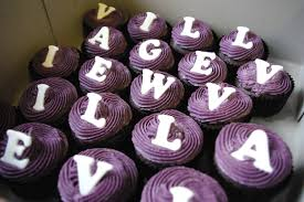 vanilla cupcakes purple vanilla butter icing sugar paste lettering village view mall birthday
