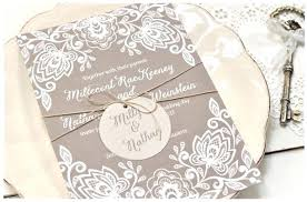 Lace Wedding Invites 3 Rustic Calligraphy Recycled Invitation Kits