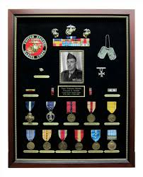 Personalized Military Retirement Shadow Box Shadowbox Custom Sports Medal Display Case U