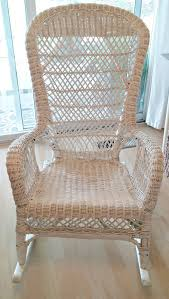Vintage Wicker Rocking Chair Makeover - Little Vintage Cottage