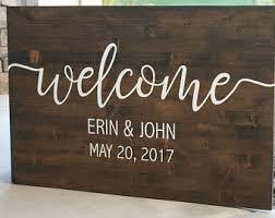 Wedding Welcome Sign Wood Rustic