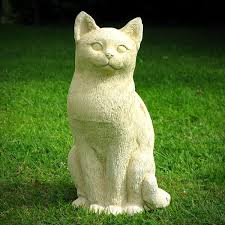 cat garden statue sitting happy cat garden statue