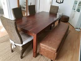 esszimmer set 4 stühle bank esstisch 200 x 100 cm np 600