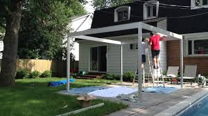 My DIY Pergola, Built Out Of Aluminum - YouTube Pergola Gazebo Backyard Bewitch Outdoor At Kmart Ideas Hgtv How To Build A From Kit Howtos Diy Kits Home Design 11 Pergola Plans You Can In Your Garden Wood 12 Building Tips Pergolas Build And And For Best Lounge Hesrnercom 10 Free Download Today Patio Awesome Diy