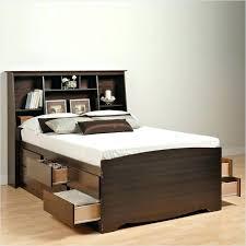 King Size Platform Bed With Headboard by Platform Bed With Bookcase U2013 Hercegnovi2021 Me