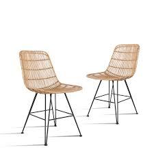 hkliving stuhl rattan chair 2er set